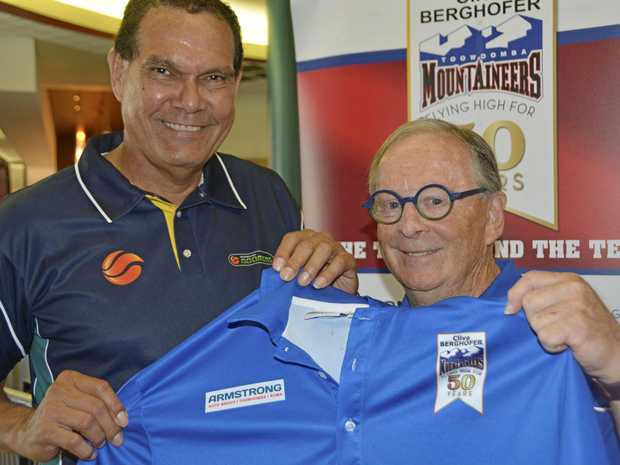 NEW COACH: Toowoomba Mountaineers director of coaching Harry Spencer (right) welcomes new coach Danny Morseu to the club.
