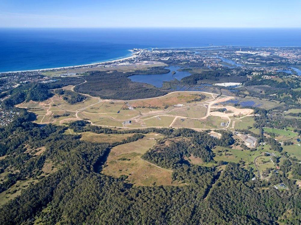 NEW TOWNSHIP: An aerial shot of the proposed Cobaki development, just west of the Gold Coast Airport and on the northern border of the Tweed Shire.