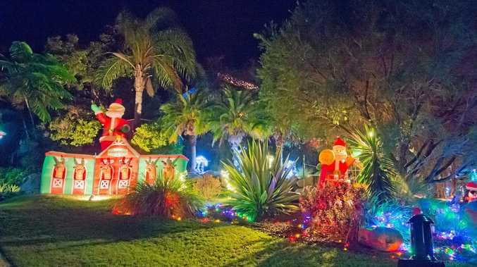 CHRISTMAS MAGIC: A house on Joyner Close, Glen Eden, Christmas 2016.