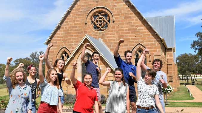 WELL DONE: (Back, from left) Dana Burtenshaw, Morgan Gander, Jacob Stiles, Lachlan Fowles and James McDonald. (Front, from left) Catherine Welsh, Alice Fowles, Autumn Taylor, Brooke Wilson and Maggie Fowles.
