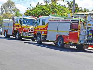 Stove catches fire at home