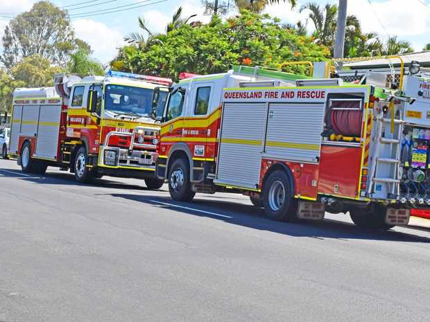 Emergency services responded to reports of a house fire on Ann St.