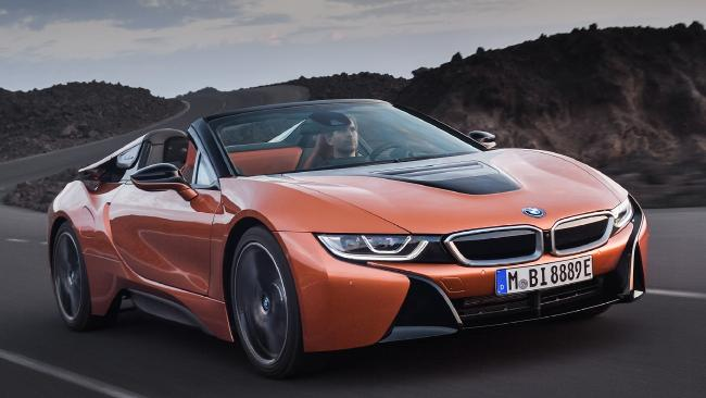 Nod to the future: The new BMW i8 convertible. Pic: Supplied.