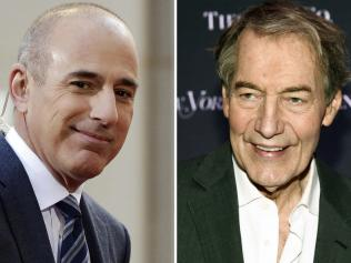 Former Today show host Matt Lauer and CBS This Morning host Charlie Rose were also dropped by their networks.