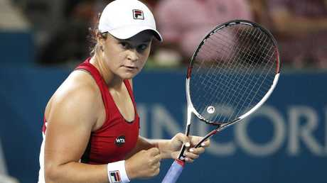 Barty in action at this year's Brisbane International. Picture: AAP