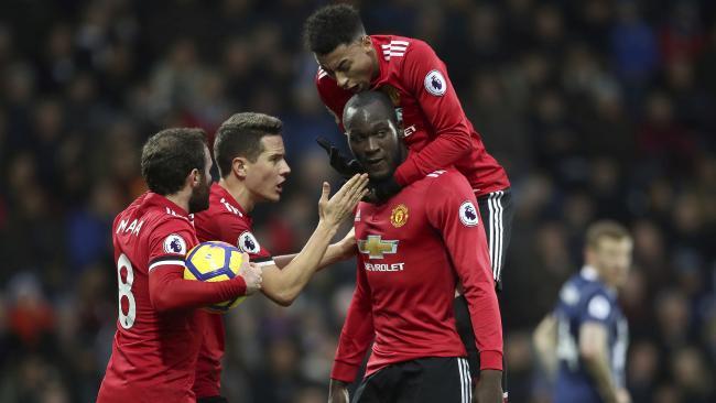 Manchester United's Romelu Lukaku after scoring.