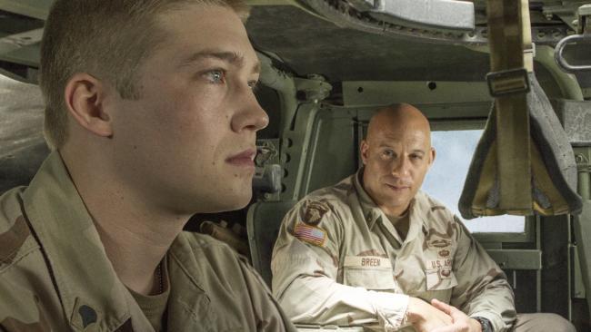 Alwyn starred alongside Vin Diesel (right) in Billy Lynn's Long Halftime Walk, a role he landed just weeks after finishing drama school