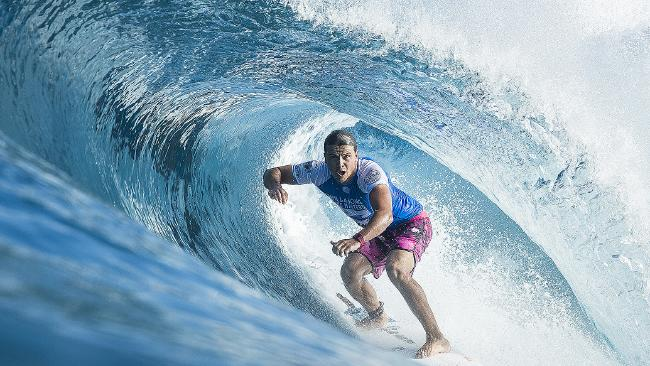 Julian Wilson's title dream ended at the Pipeline Masters. Picture: AAP