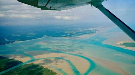 Flying over the Tiwi Islands.