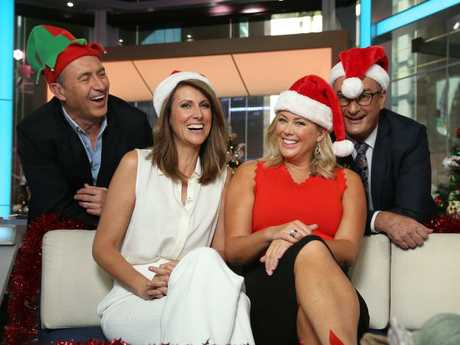 Sunrise crew Mark Beretta, Natalie Barr, Sam Armytage and David Koch. Picture: Tim Hunter.