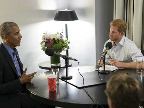 Prince Harry interviews former US President Barack Obama as part of his guest editorship of BBC Radio 4's Today program.