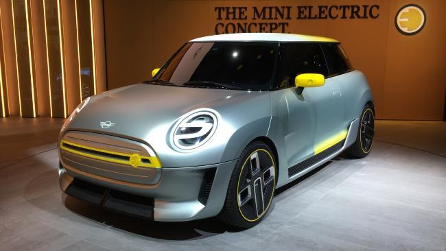 Mini Electric Car concept. 2017 Frankfurt Motor Show. Picture: Joshua Dowling.