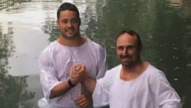 Jarryd Hayne has spent his off-season visiting Jerusalem.
