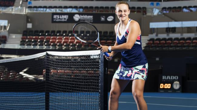 Ash Barty is confident of a bold showing at the Brisbane International. Picture: Lachie Millard
