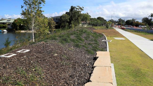 The garden bed located on Bundall Rd where homes were resumed. Picture: Adam Head
