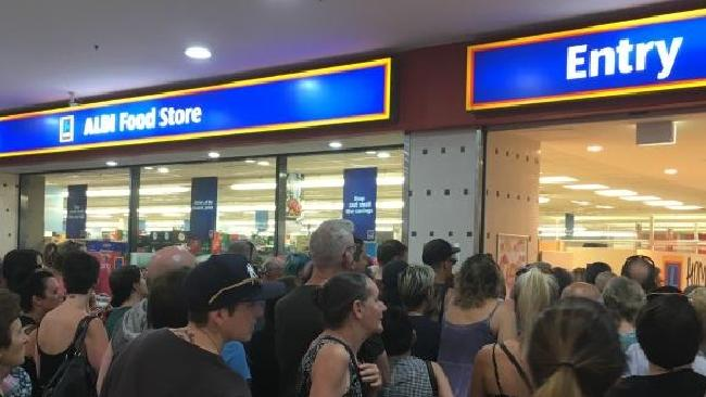 Queues outside Aldi in Marrickville, Sydney. Picture: Supplied