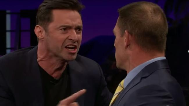 Hugh Jackman is a natural when reverse trash talking John Cena.