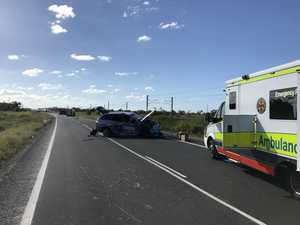 Bruce Hwy: Lane blocked 1 day on from fuel tanker rollover