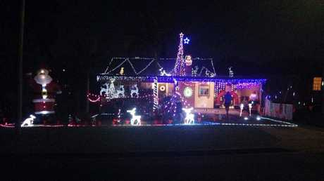 A house in Margaret Crescent has had lights stolen from their display.