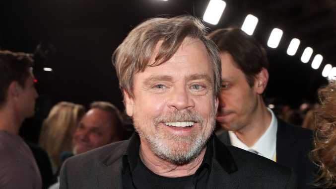 Actor Mark Hamill at Star Wars: The Last Jedi Premiere at The Shrine Auditorium on December 9, 2017 in Los Angeles, California.
