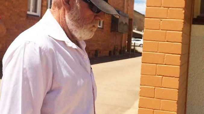 Grant Terrence Young, 60, of Maryborough, leaves Maryborough Magistrates Court.