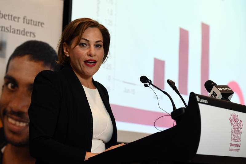 Queensland Deputy Premier, Treasurer Jackie Trad hands down the state's Mid-Year Economic and Fiscal Outlook 2017/18 in Brisbane, Monday, December 18, 2017.