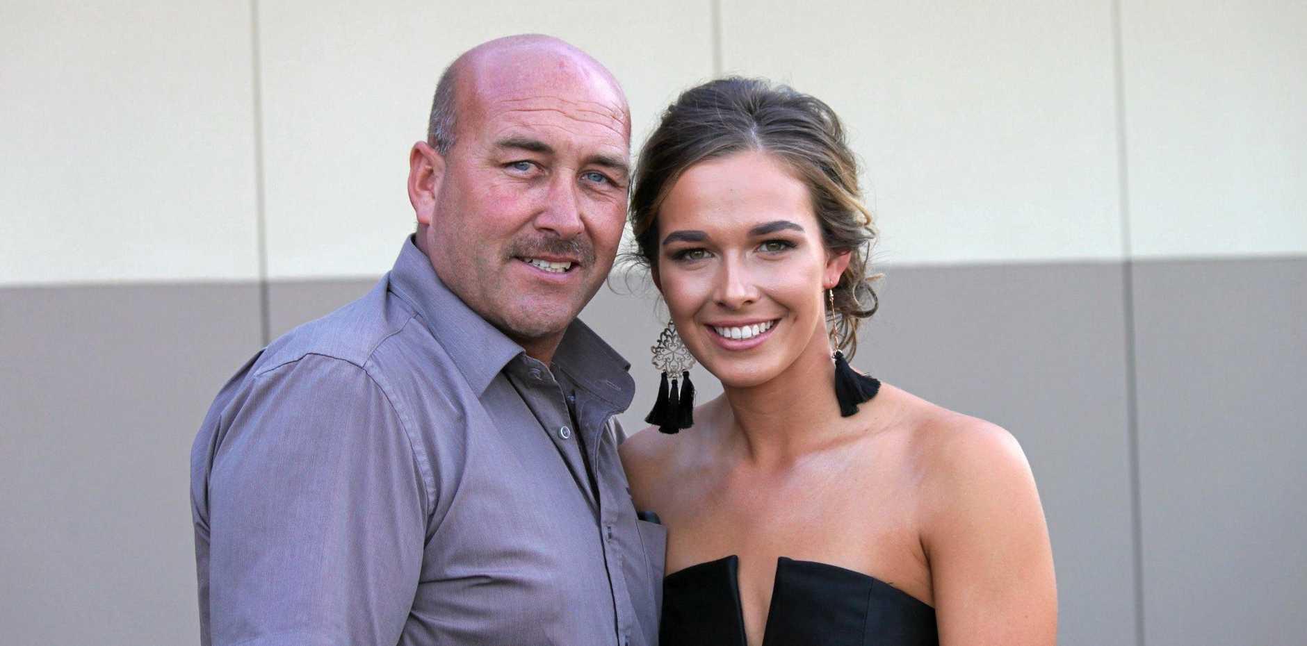 MOVEMBER MAN: Adrian Nolan with daughter Caitlin.