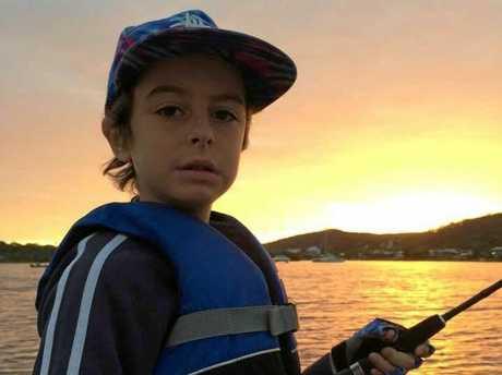 TOUGH: Lewis Sipp is fighting acute lymphoblastic leukemia.