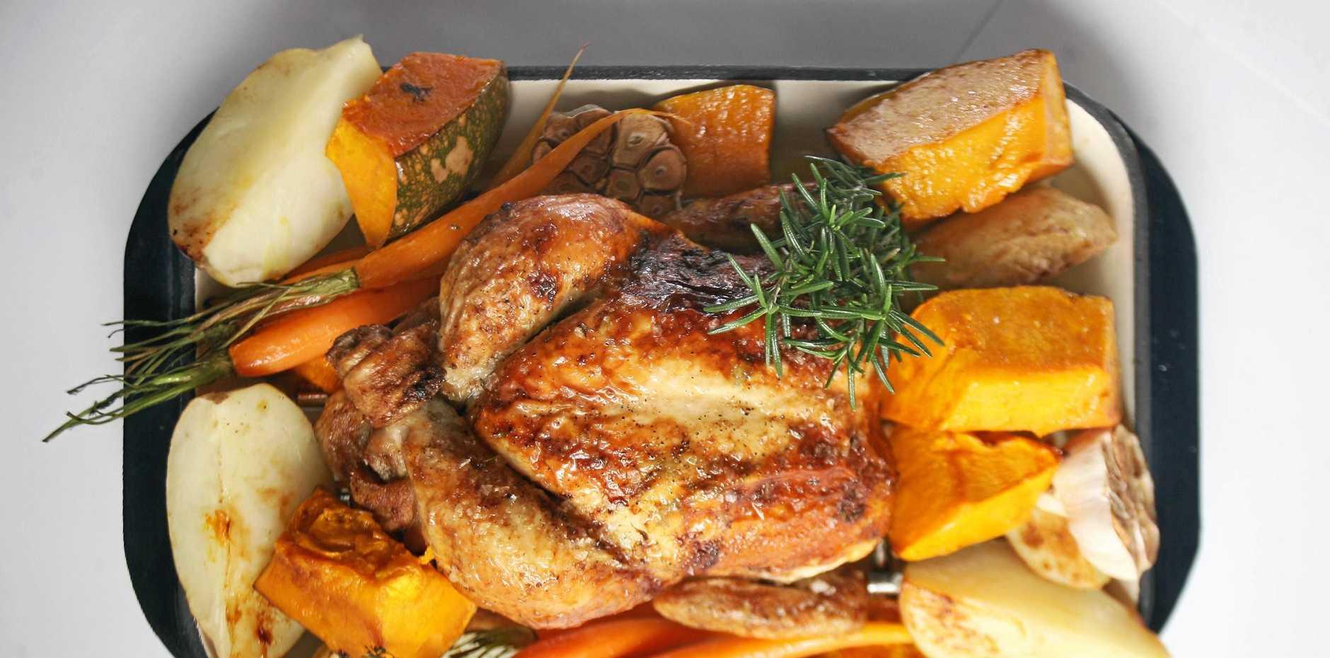 A drug addict stole a chicken tray in Bundaberg.
