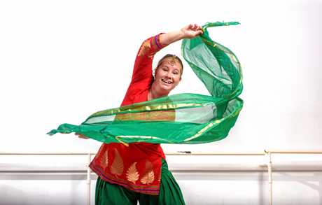 Ali McBeath of Studio One Dance Academy shows off her Bollywood style.
