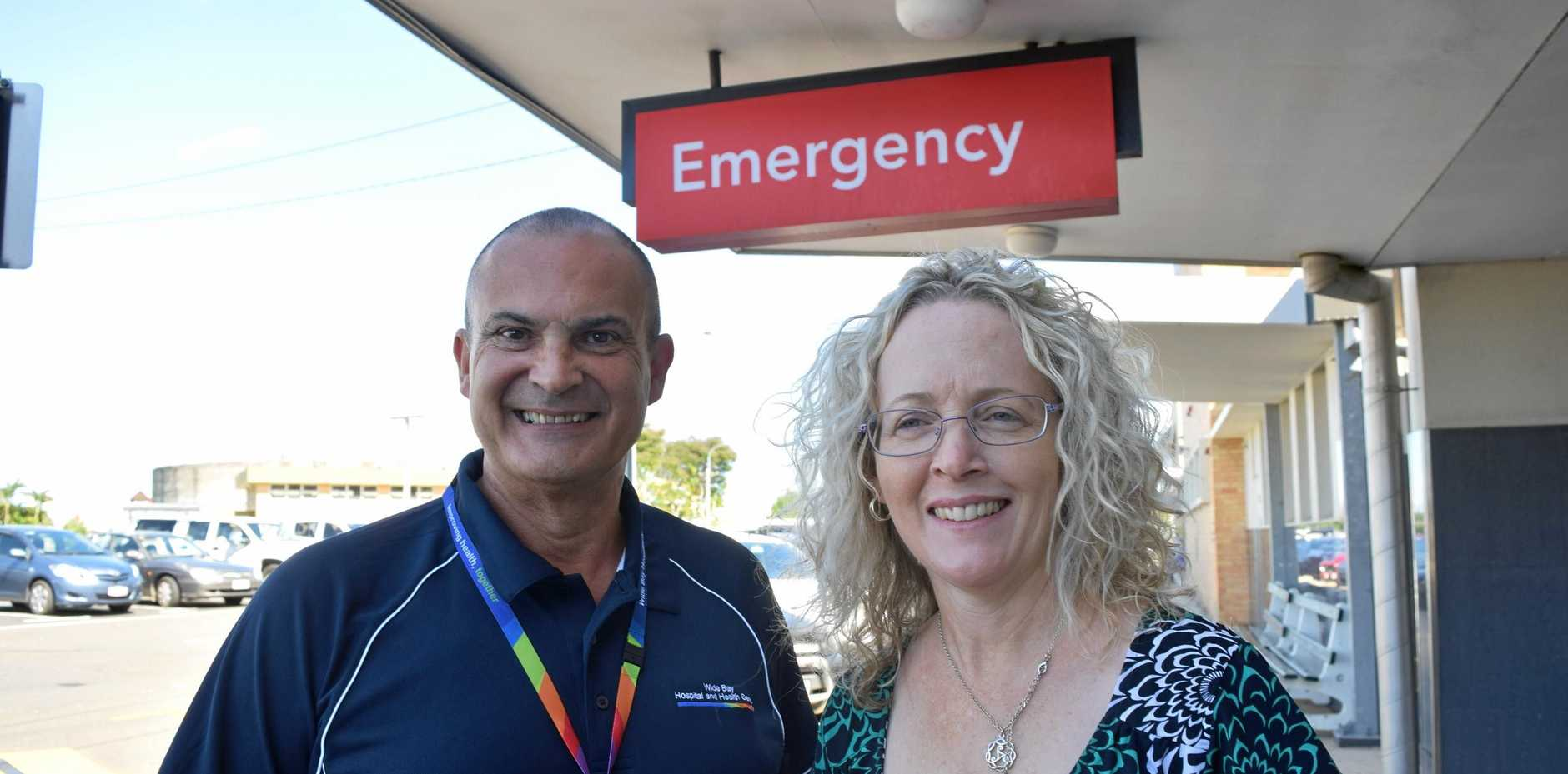 TOP CARE: Wide Bay Hospital and Health Service chief executive Adrian Pennington and board chair Peta Jamieson have good news for the community.