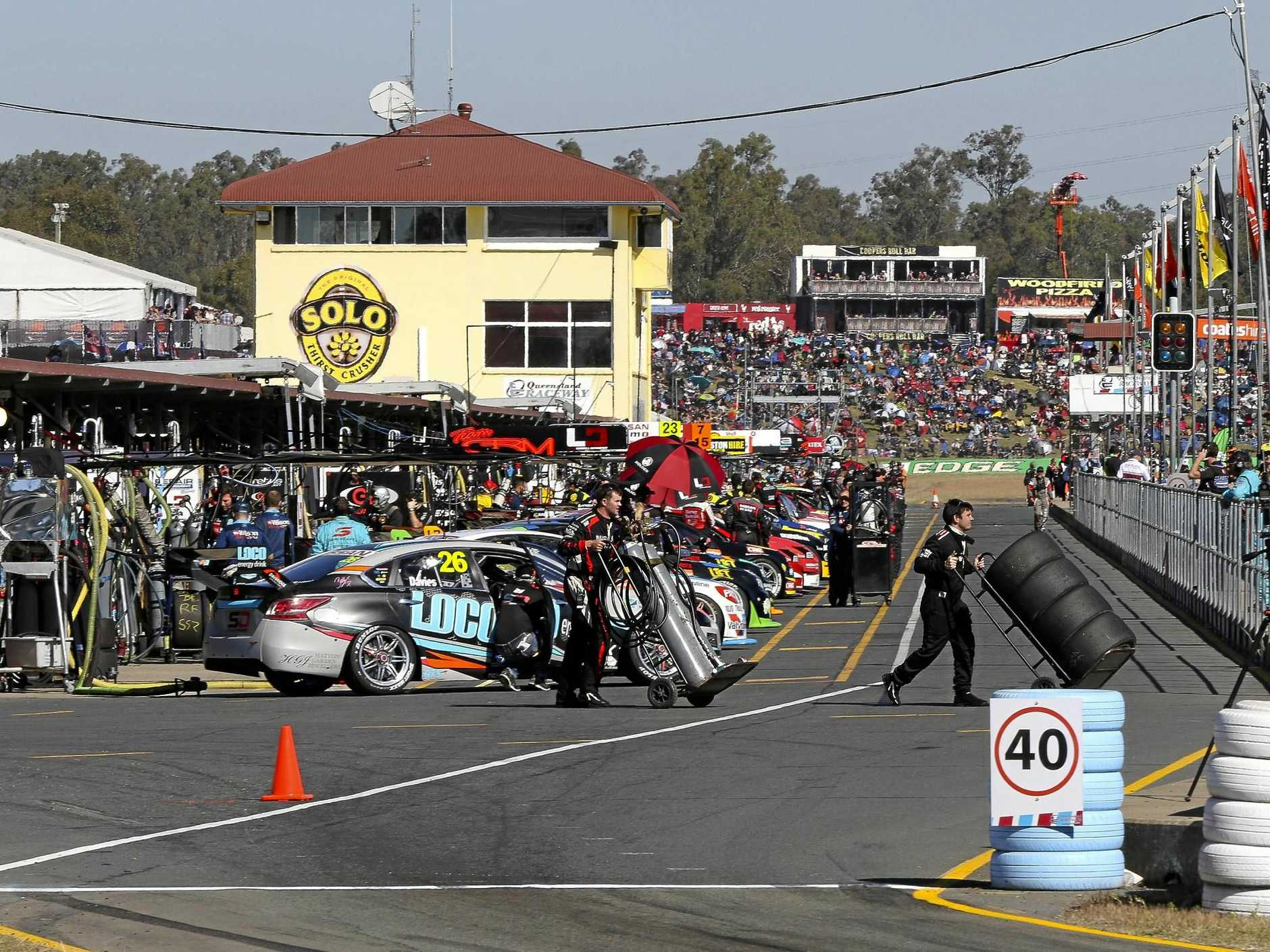 Supercars racing in Ipswich.