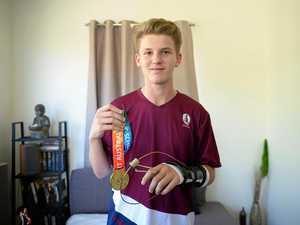 Gold-medal winning teen comes home with unwanted souvenir