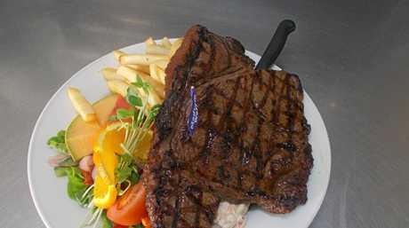 The two schooner steak challenge has to be eaten in 30 minutes.