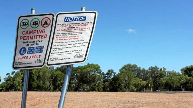 STAND-OFF: The free camping area at Kershaw Gardens was empty yesterday after Rockhampton caravan park owners took legal action through Caravan Association Queensland against Rockhampton Regional Council to cease the operation.