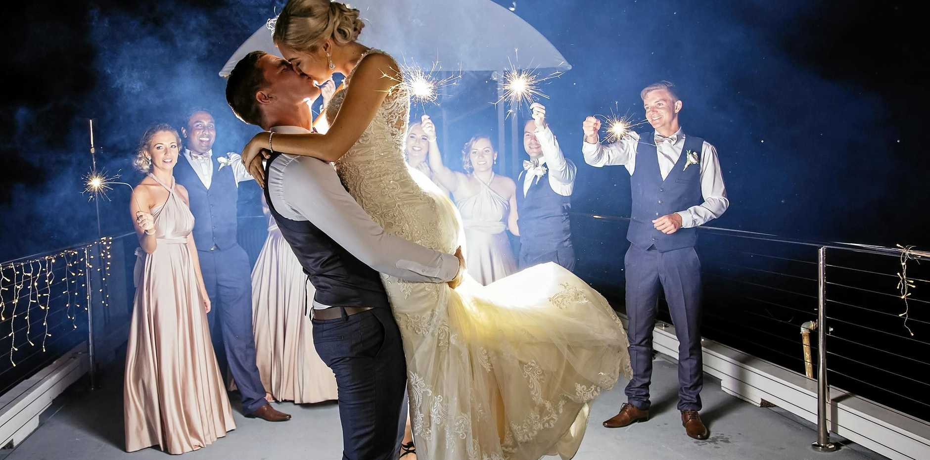 TOGETHER FOREVER: Emily and Philipp Helfersdorfer on their wedding day.