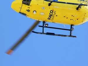 Rescue helicopter called after motorcycle accident