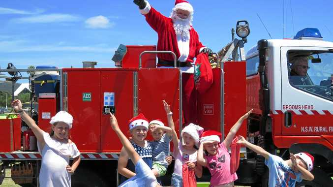 PHOTO OF THE DAY: Santa popped into Brooms Head early this year to visit a few kids bringing gifts and lots of laughter.