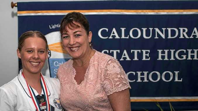 COMMUNITY ASSET: Tess Schwieso and Caloundra High School principal Julie Pozzoli after Tess received her Caltex award.