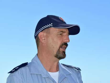 Queensland Health Sunshine Coast operations supervisor Lorenz Kleinberg addresses the media about a 48-year-old man who was airlifted to the Royal Brisbane Hospital after nearly drowning.