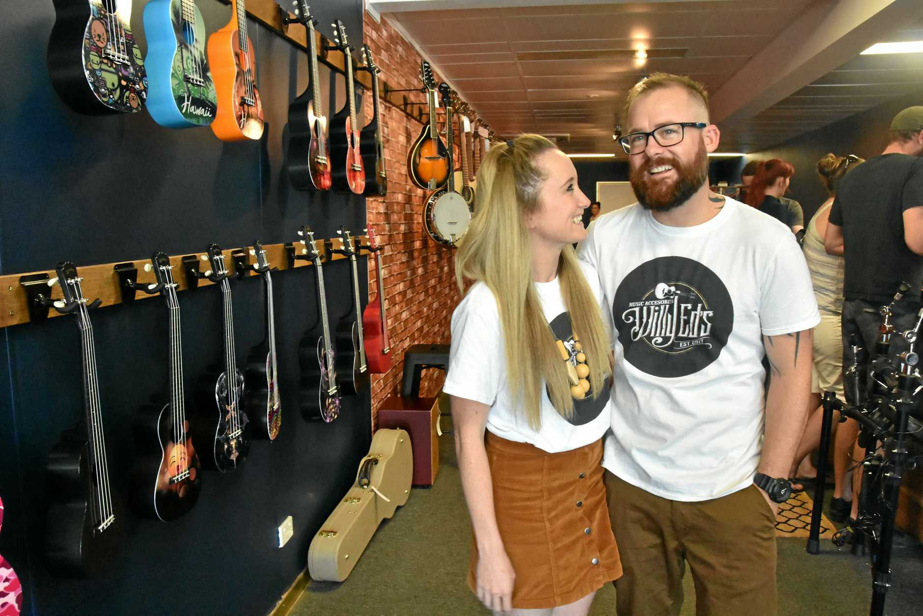 Gladstone parents Renee and Will Rose opened Willy Eds Music on Toolooa St on September 2.