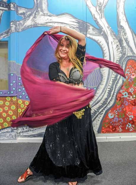 Mel Miller who will be holding a free belly dancing class for people aged 12 to 18.