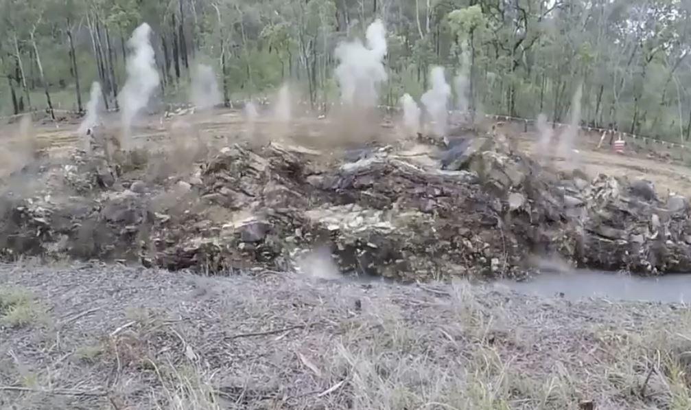 A screengrab of the blasting on the Gwydir Highway