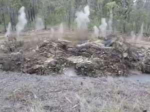 WATCH: Gwydir Highway work goes off with a BANG