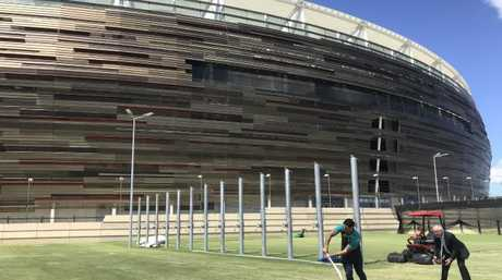 The brand new Optus Stadium in Perth makes the Gabba look antiquated.