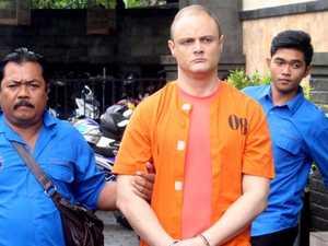 'F***ing addict' rushed to hospital after Bali drug arrest