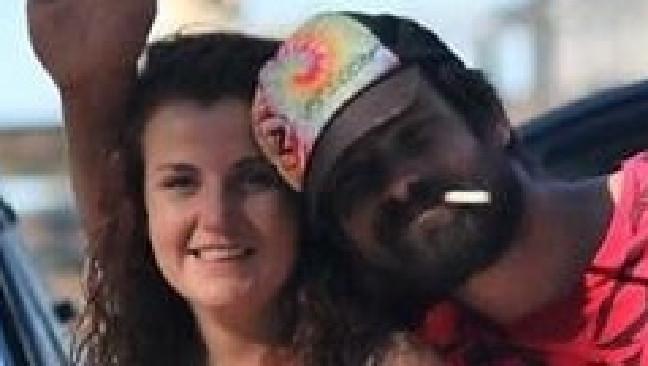 Casey Barnes and boyfriend, Boyd. Picture: Supplied