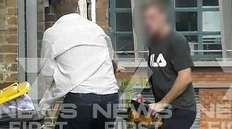 The alleged attack was captured on a dramatic video. Picture: Seven News