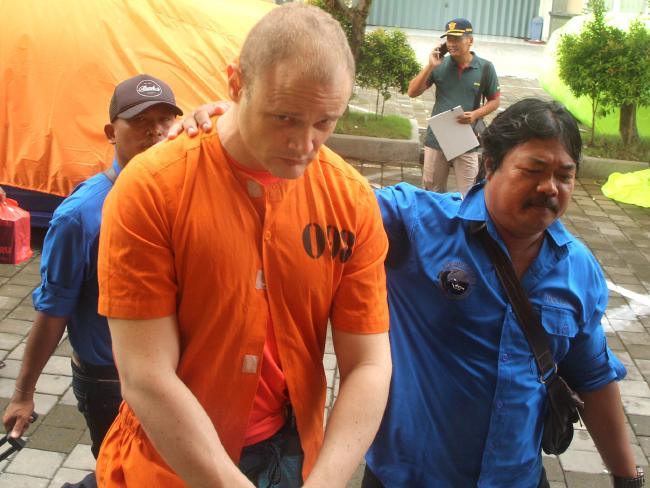 Australian man Isaac Emmanuel Roberts was arrested at Ngurah Rai International Airport Bali after he arrived on a Thai Airways flight from Bangkok.