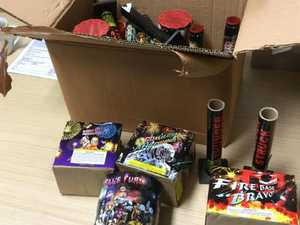 Illegal fireworks and drugs found in South East Queensland raid